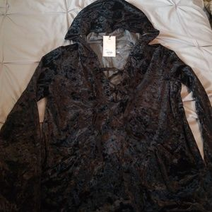 Crushed velvet Juicy Couture hooded sweater